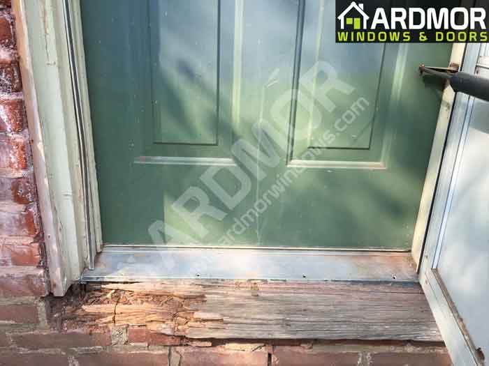 Door Sill Replacement In Morganville Nj Ardmor Windows