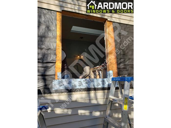 Double_Casement_Vinyl_Window_Installation_Chatham_NJ_in_process